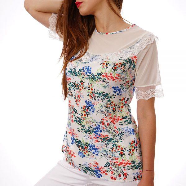 Дамски блузи къс ръкав